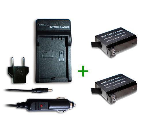 Kit Cargador + 2 Baterias Ahdbt-401 Compatible Gopro Hero4