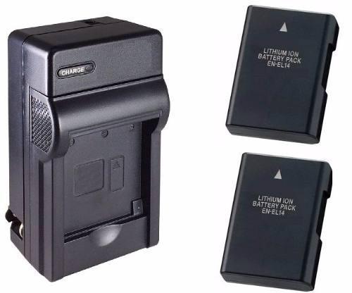 Kit Cargador + 2 Baterias En-el14 Nikon Coolpix P7000 P7100