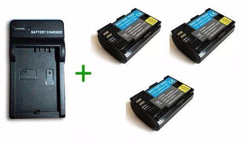Kit Cargador + 3 Baterias Lp-e6 Para Canon Eos 5d Eos 60d