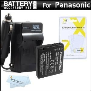 Kit De Batería Y El Cargador Para Panasonic Lumix Dmc-lx7
