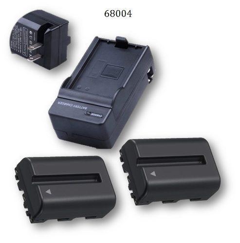 Kit Pid 68004 Para Sony Np-fm500 Cargador 2 Baterias
