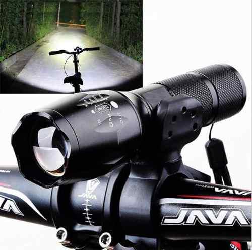 Lampara +base Para Bici +batería + Cargador 4 En 1