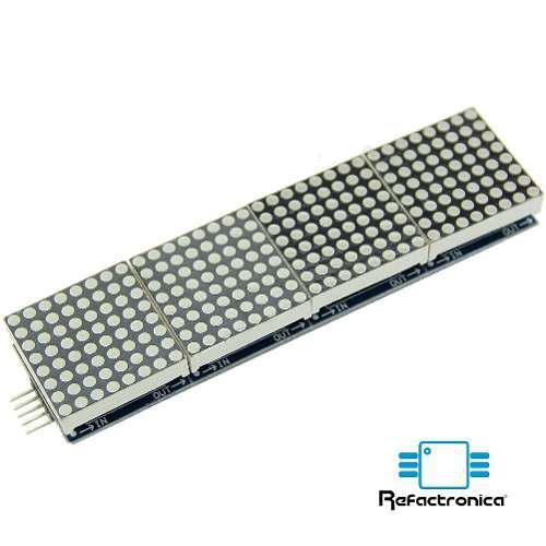 Matriz De Led 8x32 Con Max7219 Para Arduino Refactronic