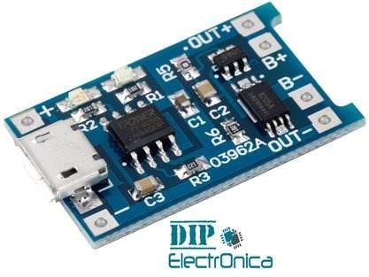 Módulo Cargador De Batería Tp4056 (entrada Micro Usb) 5v