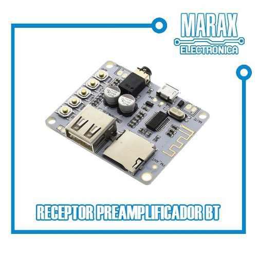 Módulo Reproductor De Audio Bluetooth, Ranura Micro Sd Usb