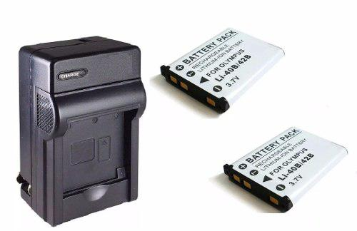 Pack 1 Cargador 2 Baterias Para Camara Li-42b Li-40b Np-45