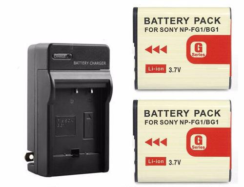 Pack Cargador Y 2 Baterías Para Sony Np-bg1