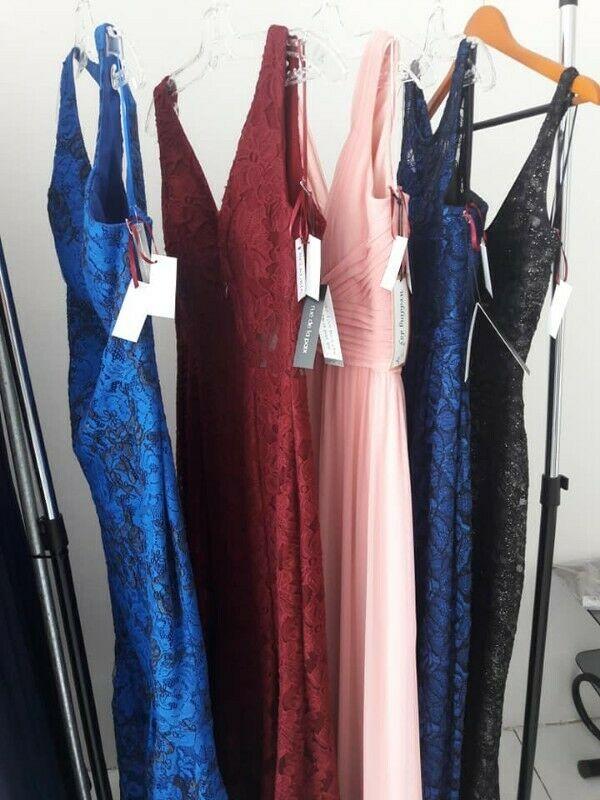 REMATO lote de 5 vestidos de noche NUEVOS