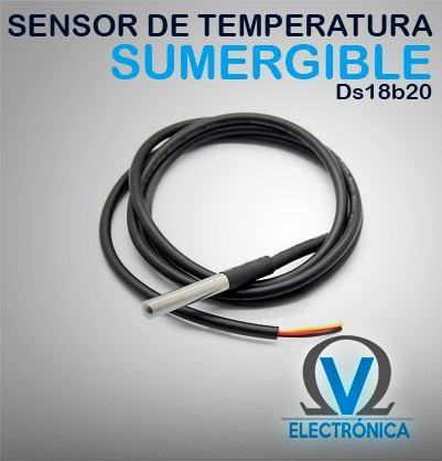 Sensor De Temperatura Sumergible Ds18b20 Arduino/pic