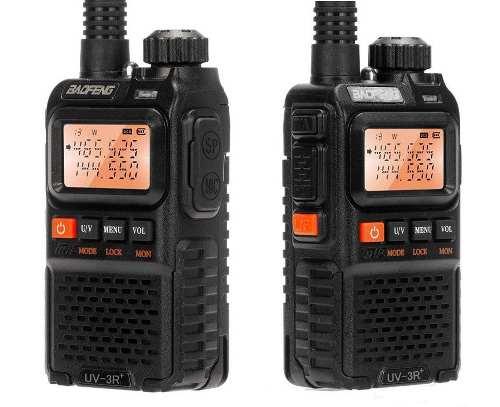 2 Radios Portatil Baofeng Uv-3r + Plus Vhf/uhf Nuevo En Caja