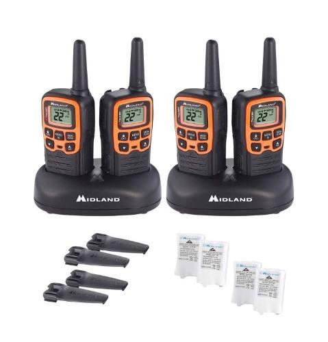 4 Radios Midland Walkie Talkie Plus Comunicación 45 Km Evox
