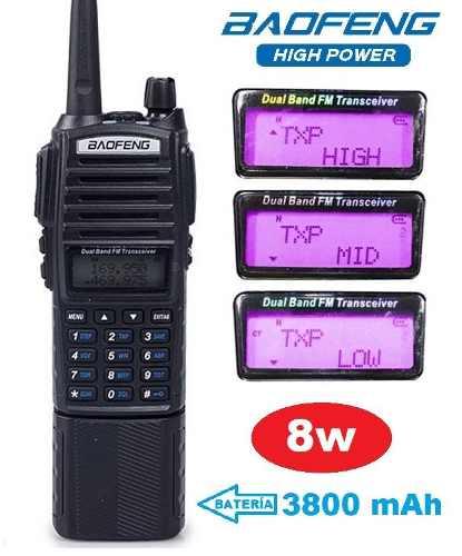 8w Radio Baofeng Uv-82 Hp Con Pila  Mah Máxima Potencia