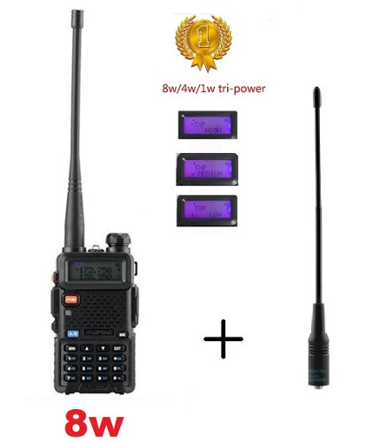 8w Radio Portatil Baofeng Uv-5r * Tri Power* + Antena Nagoya