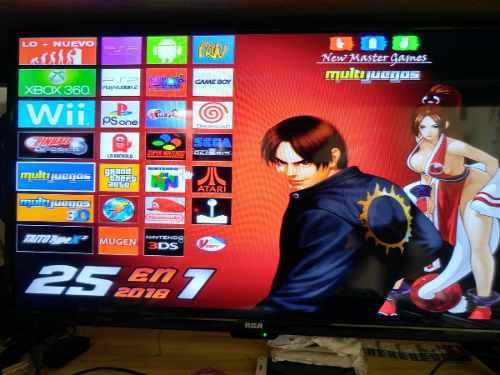 Cpu Multijuegos 25 En 1 Con Pulsador 9 Botones Por Jugador