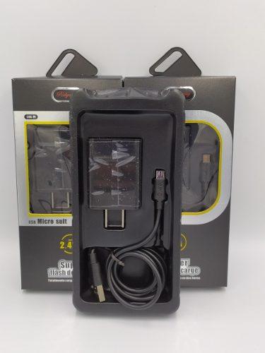 Turbo Cargador Usb V8 Cable Micro Usb 5v 2.4a Rider