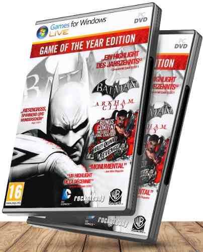 Batman Arkham City Edición Juego Del Año - Juegos Pc