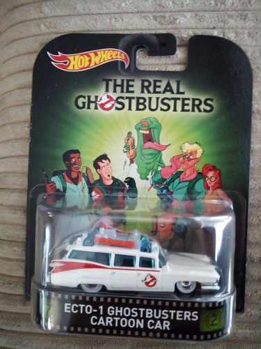 Hot Wheels Retro Ecto-1 Ghostbusters Cartoon Car