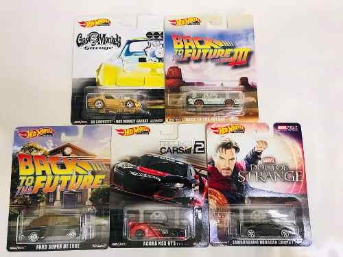 Hot Wheels Retro Set 5pz Volver Al Futuro Gas Monkey Comics