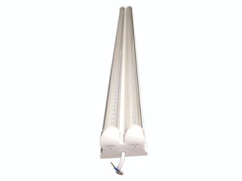 20 Tubos Led Dobles 72w 2.4m Con Base Y Accesorios Ip803b