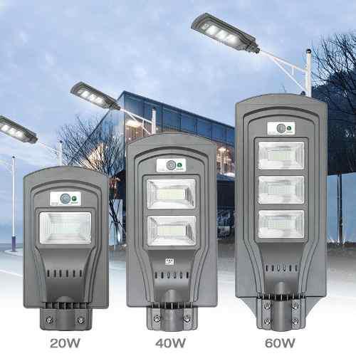 60w Led Luz Con Energía Solar Lámpara Luz De Calle Multi-c
