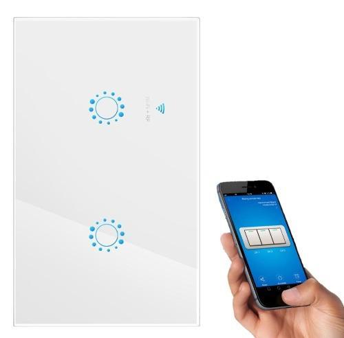 Apagador Doble Wifi Inteligente Google Home Y Alexa Compatib