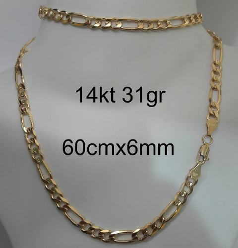 Cadena Cartier De Oro Macizo 14kt 60cm. Pesa 32gr 60cm