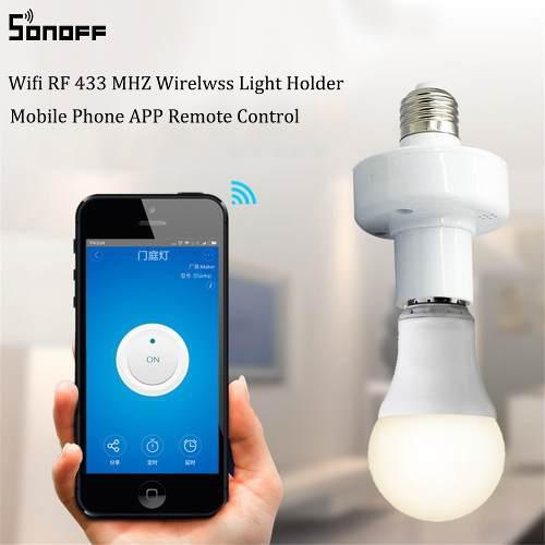 Control Remoto Focos Wifi Sonoff E27 Inteligente Domotica