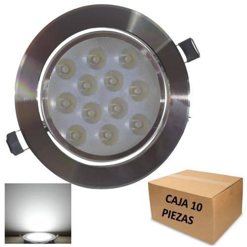 Empotrado Plafon Led 12w Luz Fria Bote 12 Cm Paquete 10 Pzas