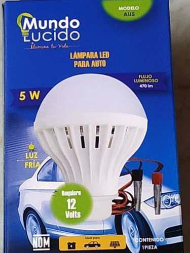 Foco Led 5 Watts A 12 Volts Para Auto Con Caimanes Au5