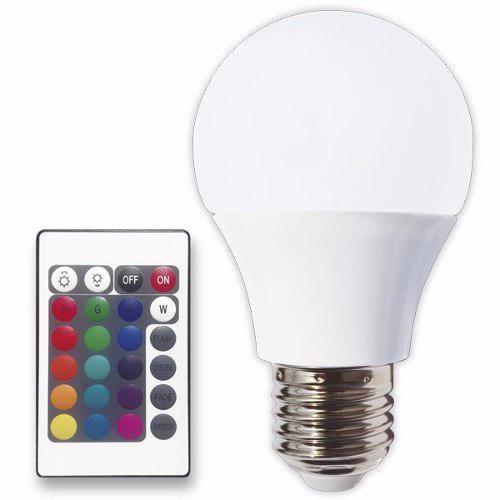 Foco Led Multicolor Control Remoto Luces De Color Cambiante
