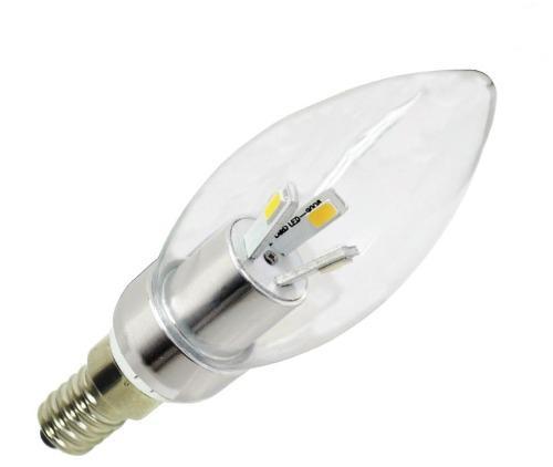 Foco Led Tipo Vela Luz Calida 3 Watts E-14 Ad-2901 Adir