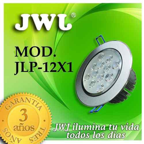 Jwj Lampara Led Empotrable 12w Luz Cálida Dirigible