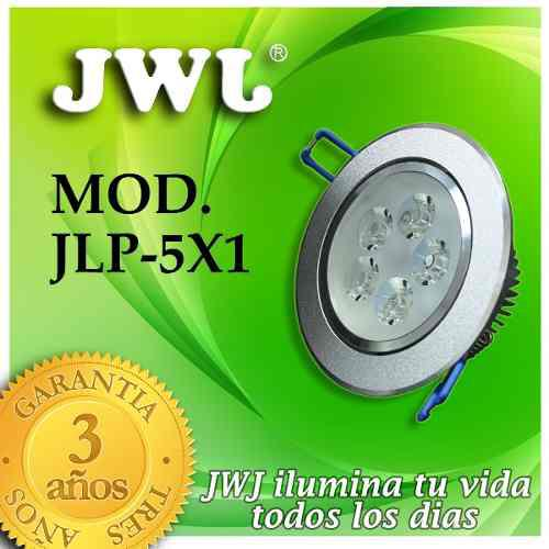 Jwj Lampara Led Empotrable 5w Luz Cálida Dirigible Satinado
