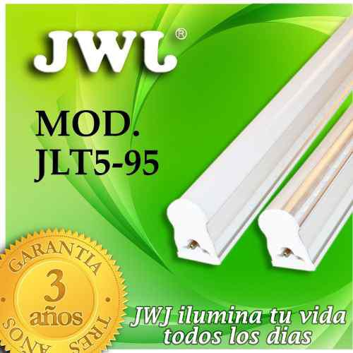 Jwj Tubo Led T5 1 Línea Transparente Con Base 9w Luz