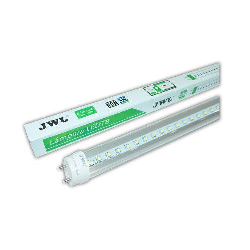 Jwj Tubo Led T8 Transparente 18w Luz Blanca (caja 25 Piezas)