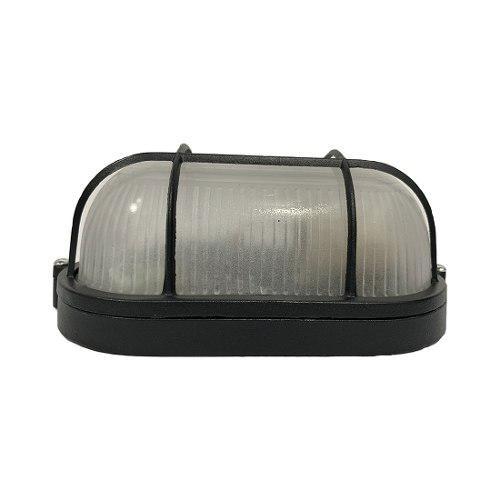 Lampara Arbotante Luminaria Ovalo Negro Ad-5257 Adir