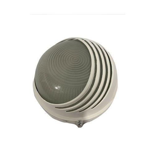 Lampara Arbotante Luminaria Redondo Blanco Ad-5258 Adir