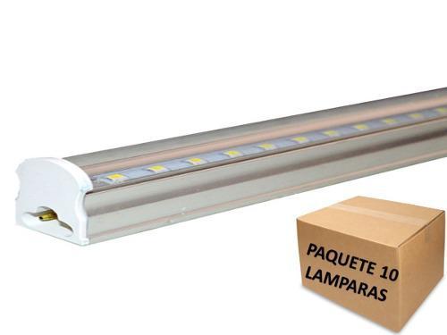 Lampara Led 18w T5 Canaleta Luz Blanca 1.20 Mt Pqte 10 Pzas