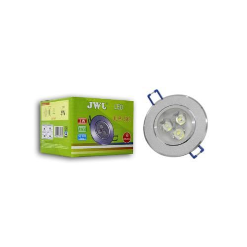 Lampara Led Empotrable 3w Luz Cálida Dirigible Satinado Jwj