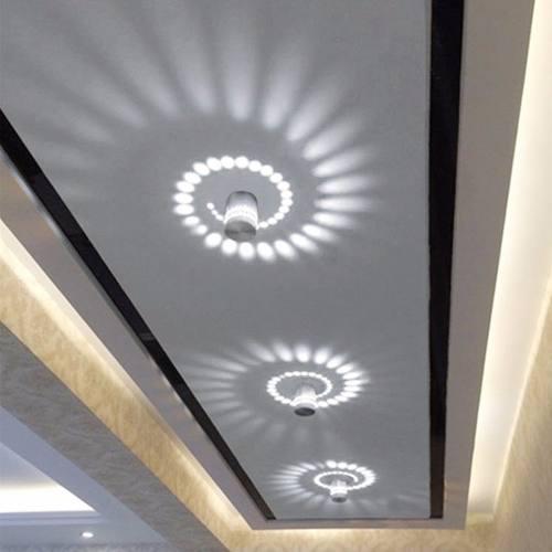 Lampara Led Moderna Para Techo/pared De Aluminio Luz Espiral
