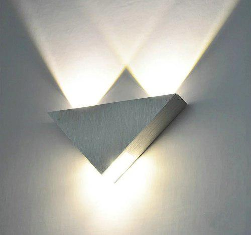 Lampara Led Moderna Para Techo/pared, Triangulo Luz Blanca