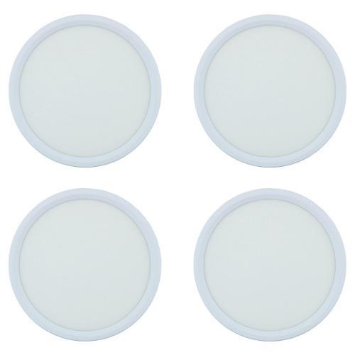 Lampara Sobreponer Panel Led 12w Luz Blanca Paquete 4 Pzas