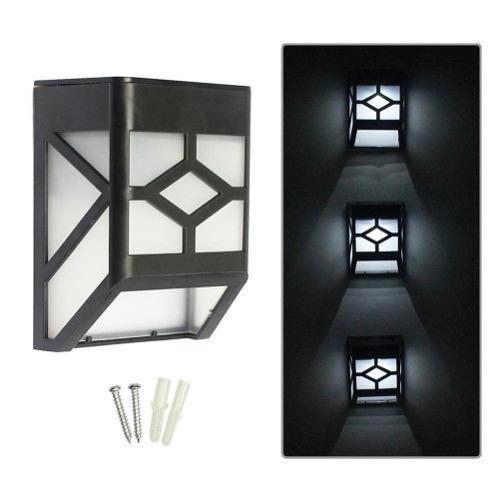 Lampara Solar 2 Led Pared Decorativo Exterior Luz Blanca 1pz