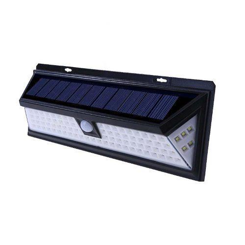 Lampara Solar Exterior 118 Led Sensor Movimiento Iluminacion