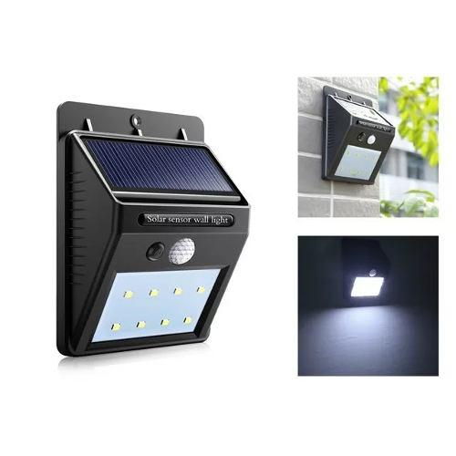 Lampara Solar Exterior Detector De Movimiento Panel Solar