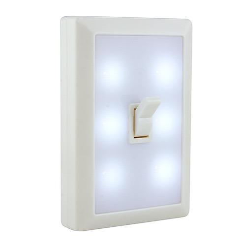 Lámpara 6 Led Forma De Apagador Swtich De Baterías