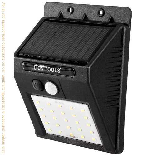 Lámpara Arbotante Solar Con Sensor De Movimiento Y Luz Led