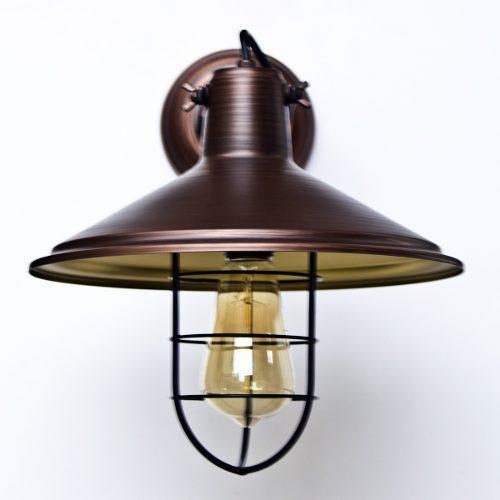 Lámpara De Pared Vintage Antique Con Rejilla
