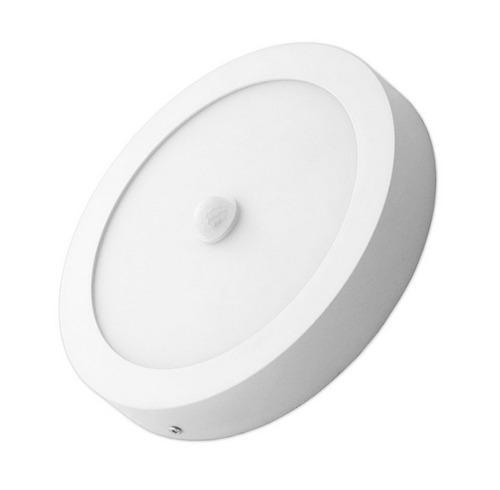 Lámpara Led Con Sensor De Movimiento De Sobreponer 12w
