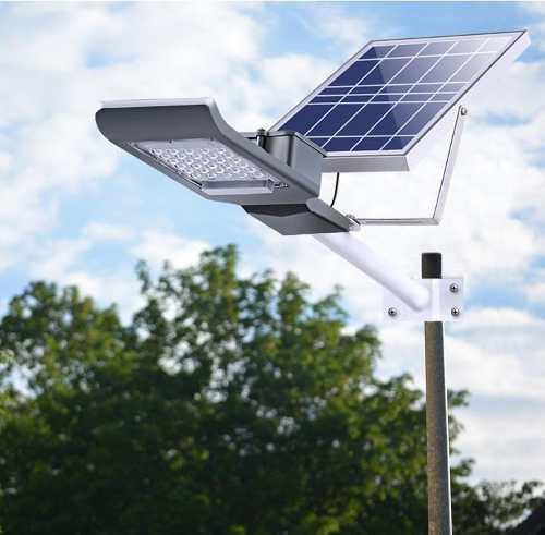 Lámpara Led Solar 100w Luminaria Suburbana Alumbrado